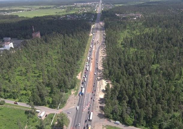 Опоры для трех развязок на Горьковском шоссе в Балашихе выполнены на 20%